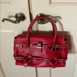 Luella- red leather purse